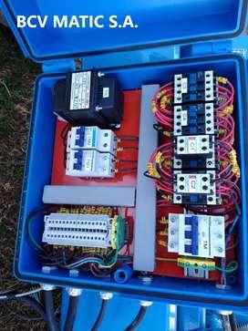 tablero eléctrico para control de aparejo , puente grúa