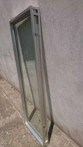 Ventanas fija (no se abre) de aluminio 150cm x 50 cm con vidrio 5mm