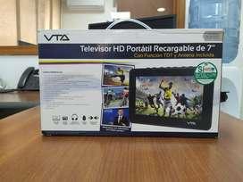 "Televisor HD Portátil VTA 7"" con TDT"