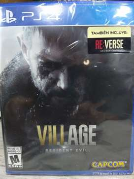Resident evil 8 village  play station 4