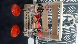 Caja sorpresa copa decorada