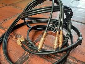 Cable Rca 3 salidas punta golf nuevo
