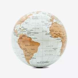 Mapamundi mapa giratorio globo terráqueo