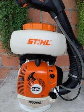 Bomba a motor STIHL SR 200 muy poco usada. Casi  nueva