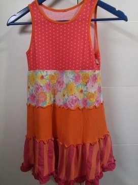 Vestido De Nena Talle 8 De Diseño Excelente Algodón, Divino