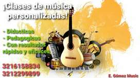 ¡Clases de música personalizadas! GUITARRA, PIANO, BAJO, UKELELE, CLARINETE, PERCUSION MAYOR Y MENOR, TÉCNICA VOCAL