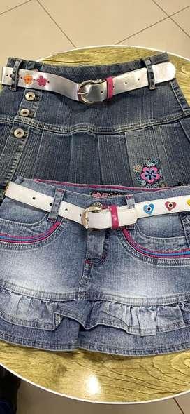 Minifalda de jeans para niñas