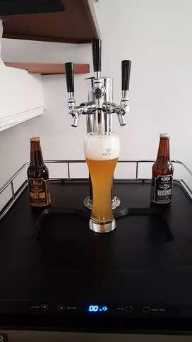 Dispensador y refrigerador cerveza de barril de 60 litros