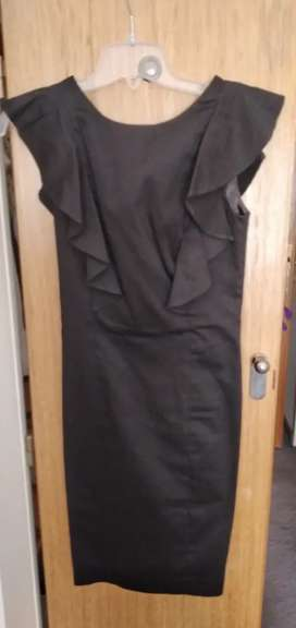Las Oreiro vestido negro de fiesta ideal madrina oferta