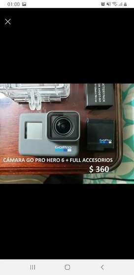Cámara Go Pro Hero 6 + Full accesorios
