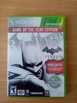 Batman arkham city xbox 360 game year edition