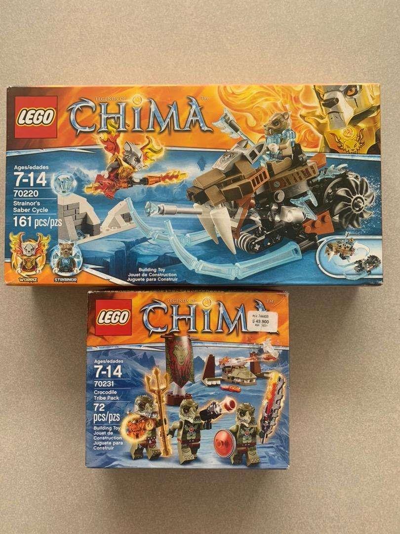 LEGO CHIMA 70220 - 161 PIEZAS 100% ORIGINAL Y COMPLETAMENTE NUEVO. Y GRATIS! LEGO CHIMA 70231 - 72 PIEZAS 0
