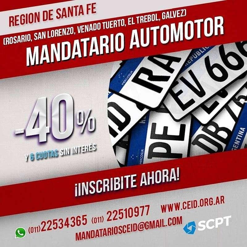 SANTA FE: San Lorenzo, Venado Tuerto y Rosario Gestoria Automotor Matricula Nacional 0