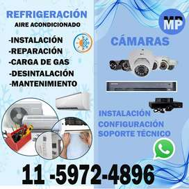 Instalacion camaras y aire acondicionado