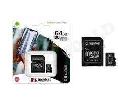 Tarjeta de Memoria Micro Sd 64gb Kingston Clase 10 Original Android HD FHD 4K