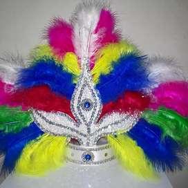 Vincha marabú multicolor