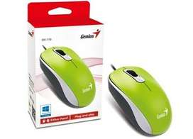 Mouse Genius DX-110 USB Verde PRECIO SEGUN CANTIDAD