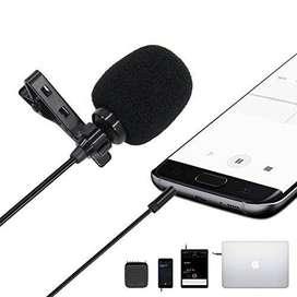 Microfono De Solapa Celular Entrevista Con Bifurcador Gratis