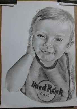 Bebes, Niños, Niñas, Dibujos Retratos