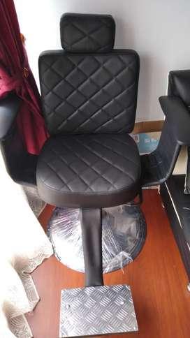 Espectacular silla barberia peluquería totalmente nueva