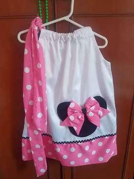 Vestido minnie talla 6