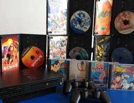 PS2 + 9 JUEGOS ORIGINALES
