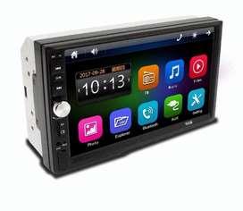 Radio Pantalla Carro ¡GRATIS CÁMARA DE REVERSA INSTALACIÓN! HD Mirrorlink BT Android MP5 Táctil