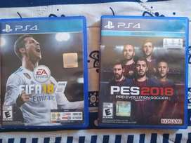 Pes 2018 y FIFA 18 para Playstation 4