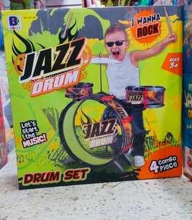 Set Bateria jazz drum infantil