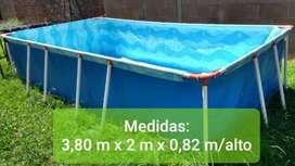 PILETA DE LONA 3,80 X 2