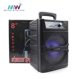 """Parlante Bluetooth KTS-1090 8"""" + Microfono Y Control"""