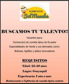 Cocinero(a) de comida típica de Ecuador