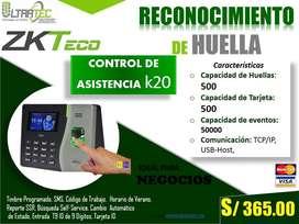 CONTROL DE  ASISTENCIA k20