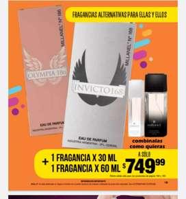 Perfume alternativos de 30ml + otro de 60ml a eleccion $750 masculinos o femeninos