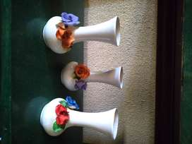 Lote de Floreros y Jarrones de Ceramica