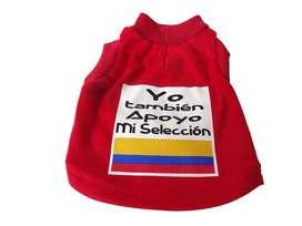 Camisetas yo también apoyo mi selección x 66 und