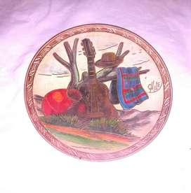 Plato Decorativo de Cobre Chileno