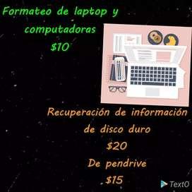 Formateo de PC y recuperación de información