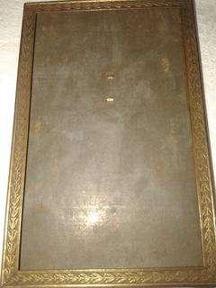marco de 1900 chapa bronce trabajado de 10x15cm