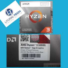 Microprocesador AMD RYZEN 3 3200G. AM4. 3.6 Ghz. 4MB. 65 W. BOX. Radeon Rx vega 8