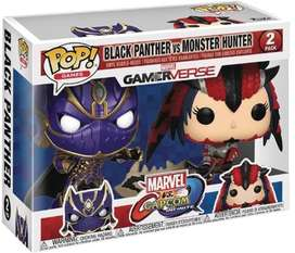 Funko pop 2 pack Marvel vs CapcomBlack Panther Vs Monster H