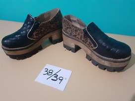 Zapatos Negros con Animal Print