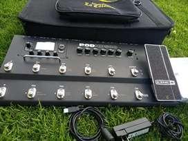 Pedal Multiefectos Para guitarra/bajo line 6 Pod HD 500, como nuevo