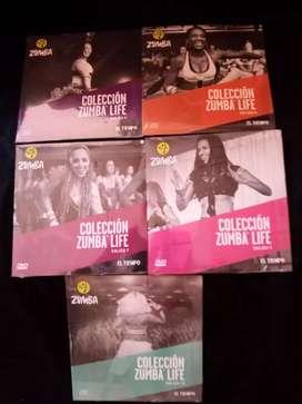 DVD'S de música colección zumba life
