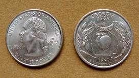 Moneda de 25 cents Estados Unidos 1999