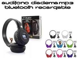 AUDIFONO CON MICROFONO, RADIO, MP3