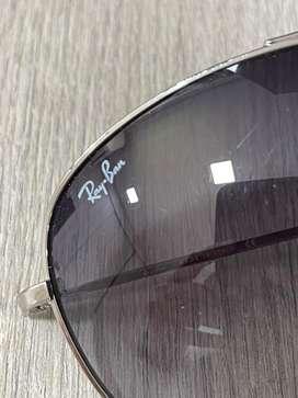 Gafas Rayban RB 3293 003/8G 67-13 marco plateado lente negro en degrade usadas