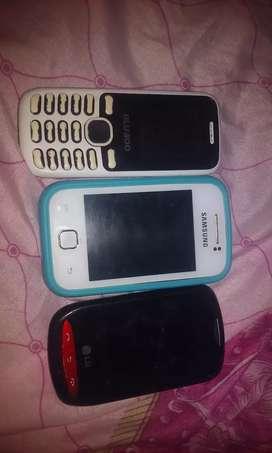 Vendo los tres cel solo llamada y sms comun
