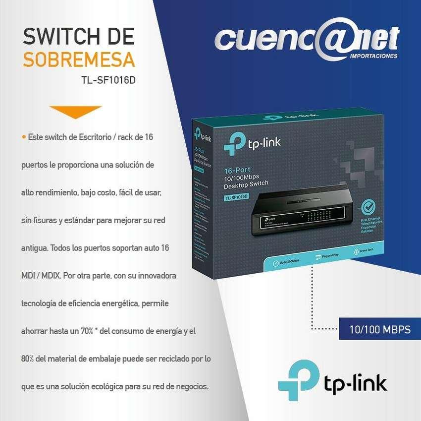 TPLINK TLSF1016 SWITCH 16 PUERTOS 10/100M, 0