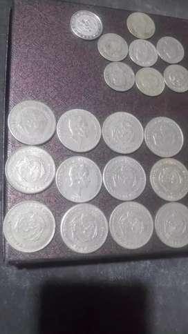 12 monedas de escudo simon bolivar